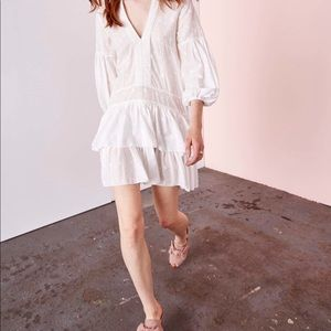 Ulla Johnson tiered dress with puff sleeves